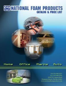 CATALOG & PRICE LIST. Home Office Marine Auto