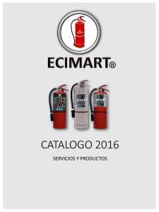 CATALOGO 2016 SERVICIOS Y PRODUCTOS