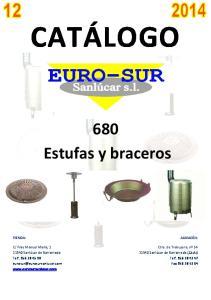 CATÁLOGO. 680 Estufas y braceros