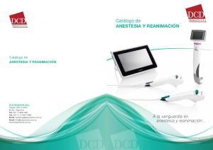 Catálogo de ANESTESIA Y REANIMACIÓN
