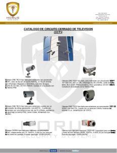 CATALOGO DE CIRCUITO CERRADO DE TELEVISION (CCTV)