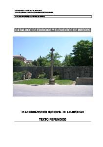 CATALOGO DE EDIFICIOS Y ELEMENTOS DE INTERES