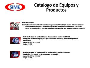 Catalogo de Equipos y Productos