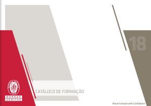 CATÁLOGO DE FORMAÇÃO. Move Forward with Confidence