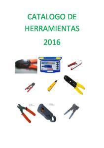 CATALOGO DE HERRAMIENTAS 2016