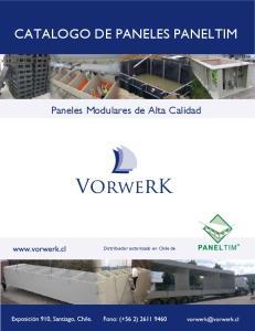 CATALOGO DE PANELES PANELTIM