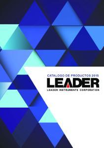 CATALOGO DE PRODUCTOS 2015 LEADER INSTRUMENTS CORPORATION
