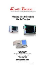 Catalogo de Productos CardioTecnica