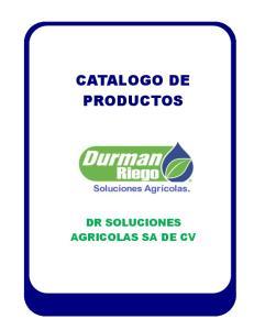 CATALOGO DE PRODUCTOS DR SOLUCIONES AGRICOLAS SA DE CV