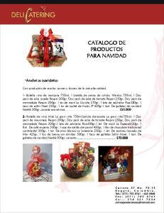 CATALOGO DE PRODUCTOS PARA NAVIDAD