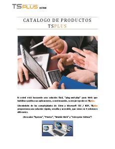 CATALOGO DE PRODUCTOS TSPLUS
