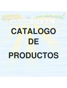 CATALOGO DE PRODUCTOS