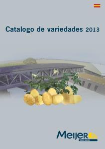 Catalogo de variedades 2013