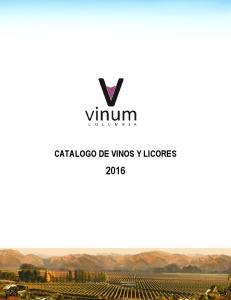 CATALOGO DE VINOS Y LICORES