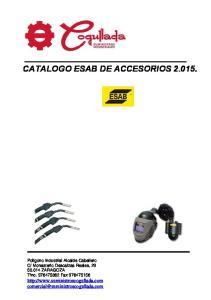 CATALOGO ESAB DE ACCESORIOS