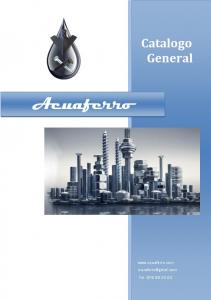 Catalogo General Acuaferro