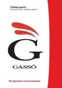 Catálogo general Company Profile. Catalogue général