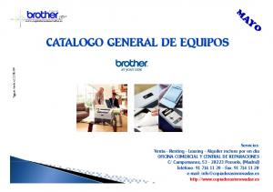 CATALOGO GENERAL DE EQUIPOS