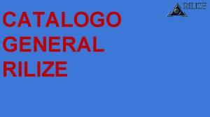 CATALOGO GENERAL RILIZE
