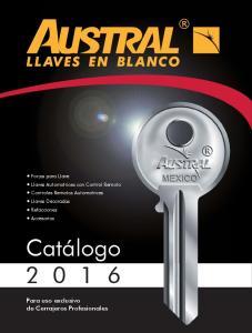 Catálogo Para uso exclusivo de Cerrajeros Profesionales