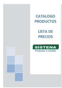 CATALOGO PRODUCTOS LISTA DE PRECIOS. Productos a medida
