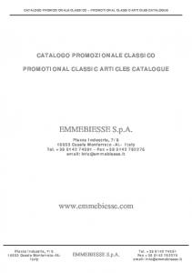CATALOGO PROMOZIONALE CLASSICO PROMOTIONAL CLASSIC ARTICLES CATALOGUE CATALOGO PROMOZIONALE CLASSICO PROMOTIONAL CLASSIC ARTICLES CATALOGUE