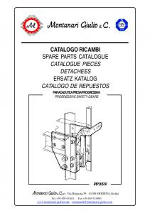 CATALOGO RICAMBI SPARE PARTS CATALOGUE CATALOGUE PIECES DETACHEES ERSATZ KATALOG CATALOGO DE REPUESTOS