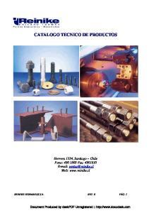 CATALOGO TECNICO DE PRODUCTOS