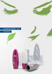 Catalogue 2010 Cosmetics