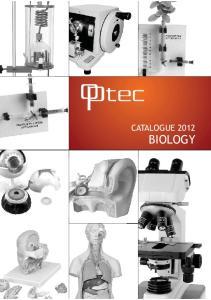 CATALOGUE 2012 BIOLOGY