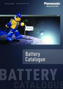 CATALOGUE. Battery Catalogue ATTERY CATALOGUE