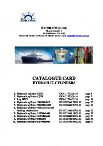 CATALOGUE CARD HYDRAULIC CYLINDERS