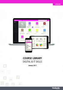 CATALOGUE COURSE LIBRARY DIGITAL & IT SKILLS