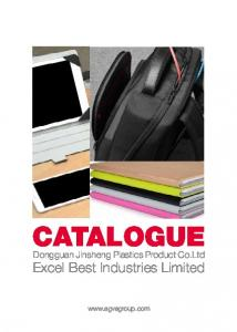 CATALOGUE. Excel Best Industries Limited. Dongguan Jinsheng Plastics Product Co.Ltd