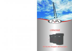CATALOGUE. JVA Security Energisers and Accessories