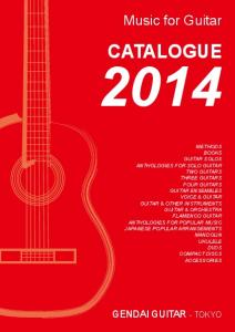 CATALOGUE. Music for Guitar GENDAI GUITAR - TOKYO