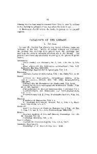 CATALOGUE OE THE LIBKAKY. I. JOURNALS