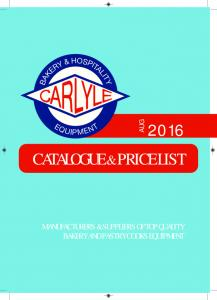 CATALOGUE & PRICE LIST