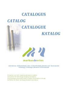 CATALOGUS CATALOG CATALOGUE KATALOG