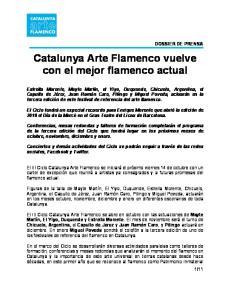 Catalunya Arte Flamenco vuelve con el mejor flamenco actual