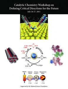 Catalytic Chemistry Workshop on Defining Critical Directions for the Future