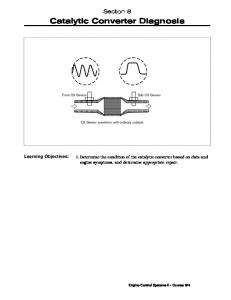 Catalytic Converter Diagnosis