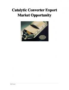 Catalytic Converter Export Market Opportunity