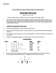 CATAMARAN RACING ASSOCIATION OF MICHIGAN RACING RULES