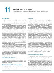 Catarata: factores de riesgo