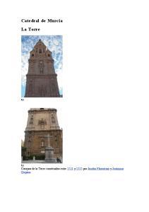 Catedral de Murcia La Torre