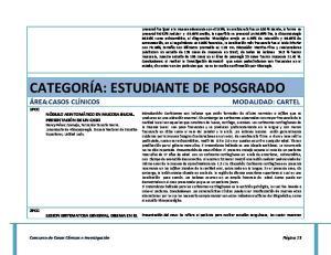 CATEGORÍA: ESTUDIANTE DE POSGRADO