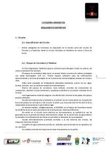 CATEGORIA MINIMOTOS REGLAMENTO DEPORTIVO
