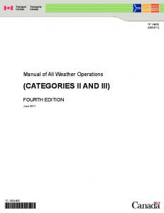 (CATEGORIES II AND III)