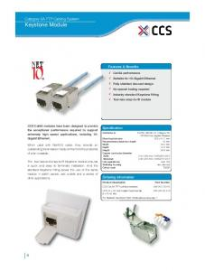 Category 6A FTP Cabling System Keystone Module
